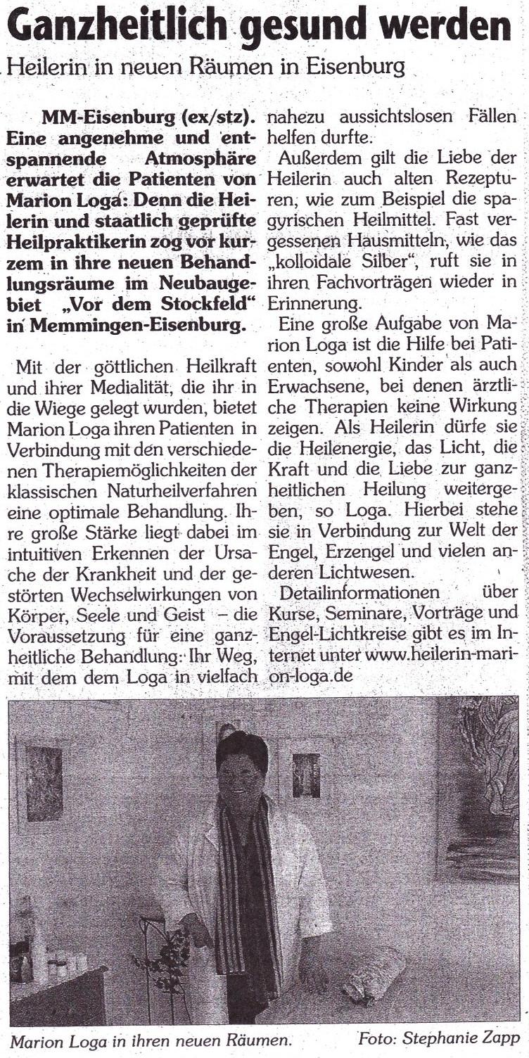 Artikel aus der Memminger Zeitung vom Februar 2006